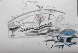 ↑디자이너는 모아진 아이디어를 실제 차량으로 구체화시키는 역할을 담당한다.