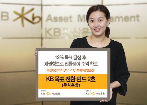KB운용, 12% 달성시 채권형전환 2호 펀드 판매
