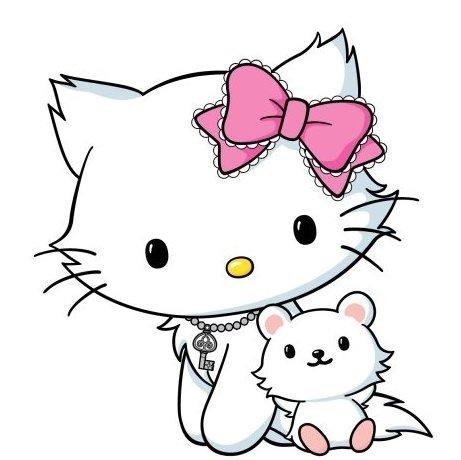 ↑헬로키티의 애완고양이 '차미 키티(Charmmy Kitty). '헬로키티(Hello Kitty)공식 트위터 캡처