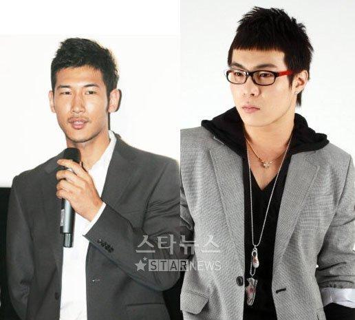 역시 오토바이 사고로 사망한 배우 이언 (왼쪽)과 먼데이키즈 멤버 김민수.