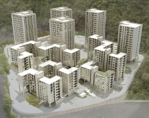 ↑특별건축구역으로 지정된 서울강남 보금자리주택지구 A-4블록