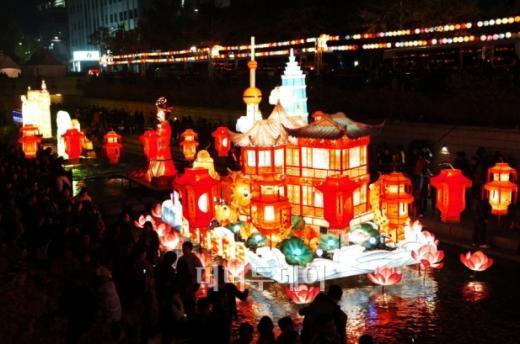 ▲중국상해예원등 모습