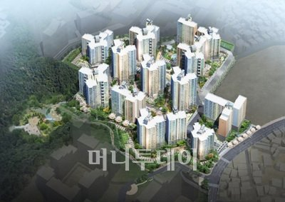 ↑동부건설이 서울 동작구 흑석6구역을 재개발한 흑석뉴타운 센트레빌Ⅱⓒ동부건설