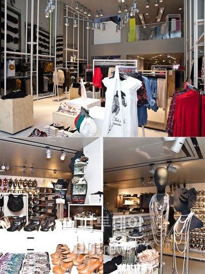 H&M 매장 모습.