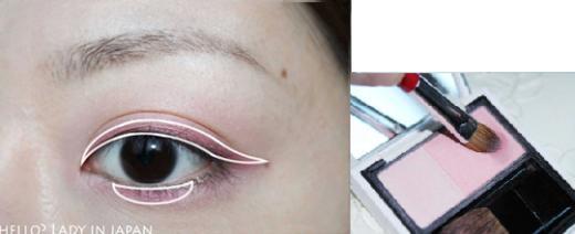 블러셔 한가지를 이용한 로맨틱 핑크 메이크업