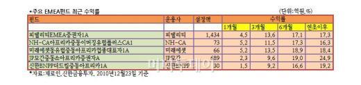 소외된 EMEA펀드, 2011년 기지개?