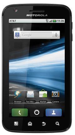 ↑ 모토로라의 4G 스마트폰 '아트릭스'.
