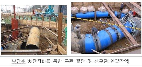 K-water, '단수없는' 관로 이설공법 적용 확대
