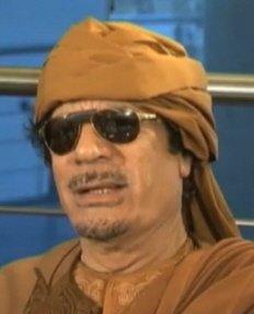↑ 무아마르 카다피 리비아 국가원수. ⓒabc방송 화면