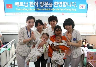 두산重, 베트남 구개열 어린이 환자 초청 무료수술