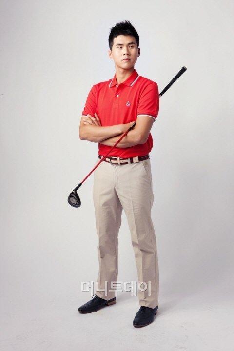 클래식 스타일의 김도훈 선수ⓒ제일모직 빈폴골프