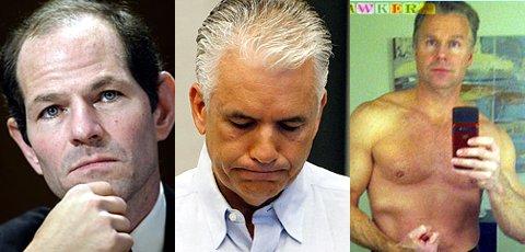 ↑최근 미국 정가에서 '섹스 스캔들'을 일으킨 엘리어트 스피처 전 뉴욕주지사, 존 엔사인 공화당 상원의원, 크리스 리 공화당 하원의원.(사진 왼쪽부터)