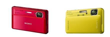 ↑ 소니의 콤팩트 디지털 카메라 TX100V(왼쪽)과 TX10