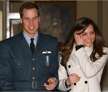 오는 29일 결혼식을 앞둔 영국의 윌리엄 왕자와 그의 약혼녀 케이트 미들턴.