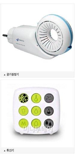 황사, 방사능 잡는 '산림욕기' ….어떤 제품?