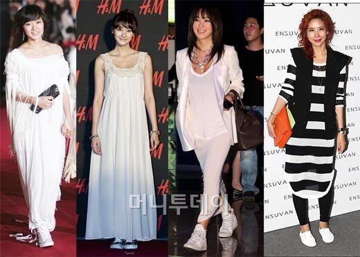 ↑(사진=왼쪽부터 배두나,유인영,엄정화,김준희/머니투데이 사진자료)