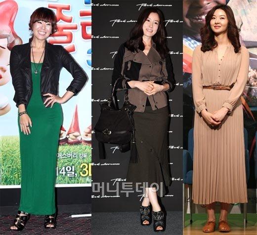 ↑(사진=왼쪽부터 정주리, 이태란, 송선미/머니투데이 사진자료)