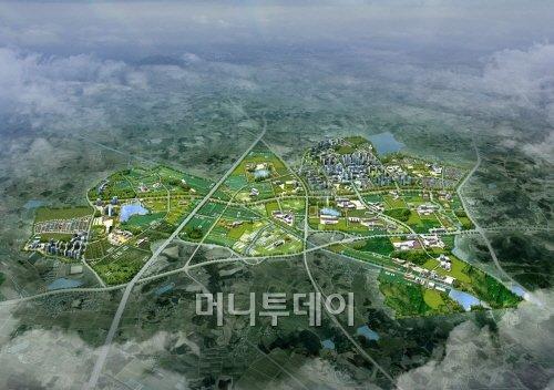↑전북혁신도시 조감도