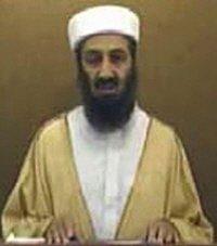▲영상메시지 녹화하는 빈 라덴
