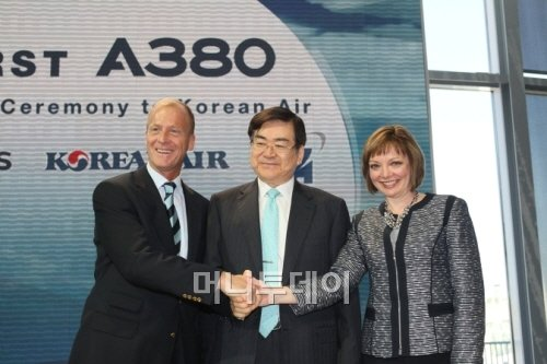 [사진]대한항공, '하늘위 호텔' A380 인수
