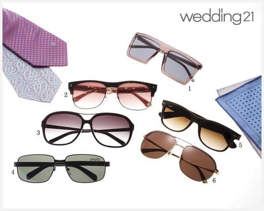 매력적인 남자의 선글라스
