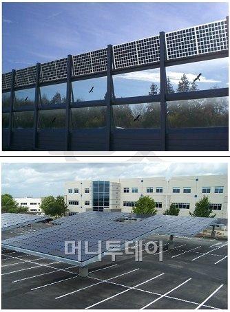 ↑태양광발전시설 예시.