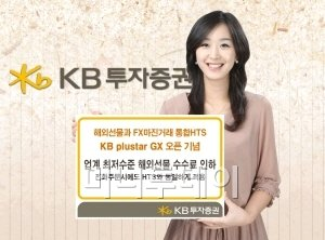 KB證, 해외선물 수수료 '반값' 인하
