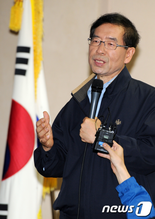 [사진]박원순 '서울개인택시 기억하겠습니다'