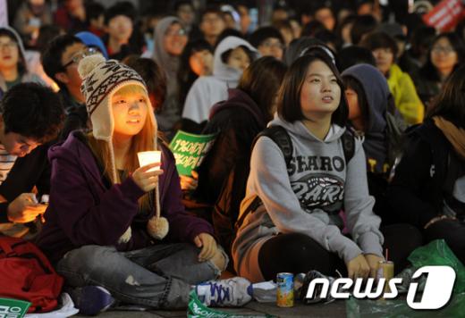 [사진]촛불 든 시민들