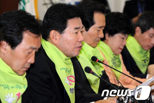[사진]김진표,'한미FTA독소조항 해결해야'