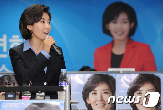 """[사진]나경원 후보 """"치졸한 선거 캠페인 하지 마세요"""""""