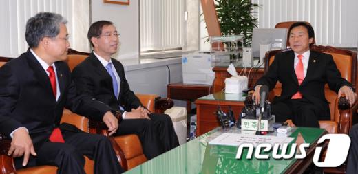 [사진]민주당 찾아간 박원순시장