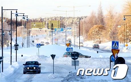 룰레오 전경. 북극권인 이곳의 연중 평균기온은 섭씨 2도이다.  News1