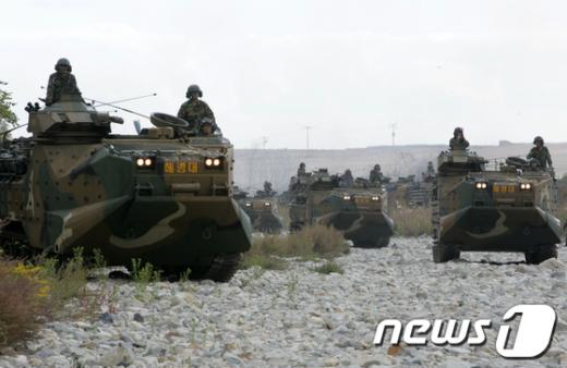 2011호국훈련이 경북 포항시 북구 독석리 해안에서 실시되고 있다./최창호 기자 News1