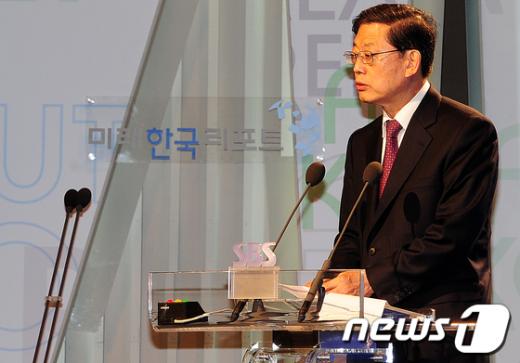 [사진]김황식 총리의 축사