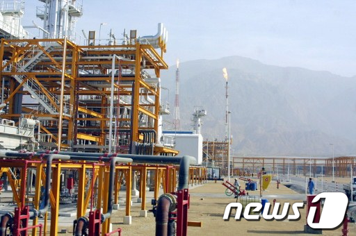 이란 남부 아살루예 항구에 있는 파르스 유전 AFP  News1