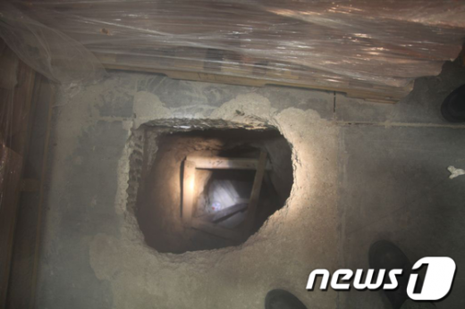 마약 밀수 터널. AFP=News1