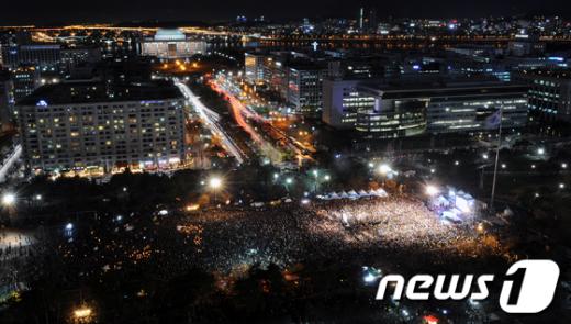 [사진]나꼼수 2만 인파 여의도 점령