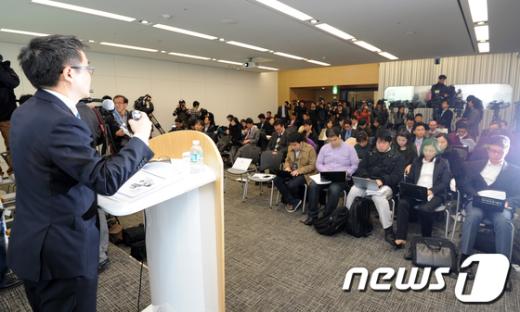 [사진]사회공헌계획 밝히는 김홍선 안철수연구소 대표