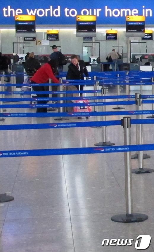 11월 30일 한적한 런던 히스로 공항 AFP=News1