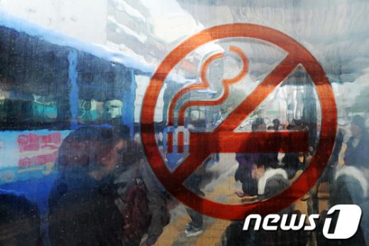 [사진]'벌금 10만원' 버스정류장 오늘부터 금연