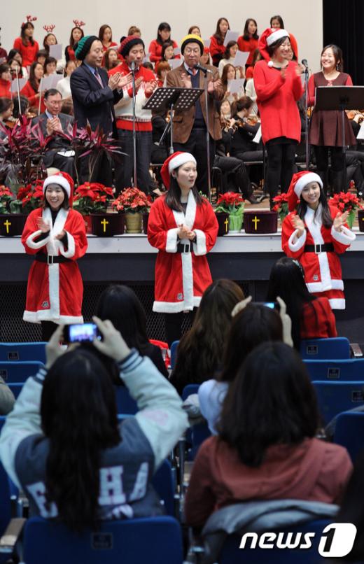 [사진]이화여대 첫 성탄예배