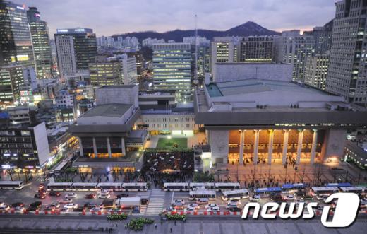 [사진]세종문화회관 앞 가득메운 언론노조