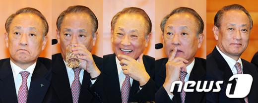 [사진]외환銀 인수 앞둔 김승유 하나금융 회장의 표정