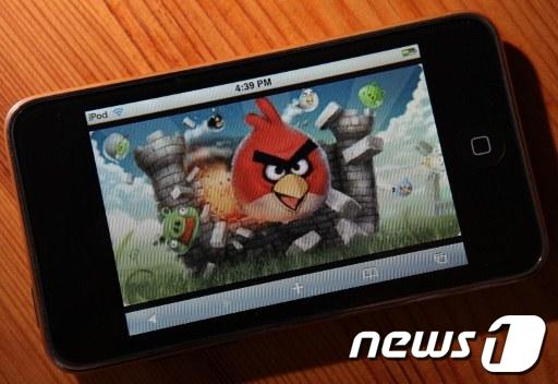 2011년 아이튠즈 최다판매 애플리케이션 앵그리버드게임  AFP=News1<br /> <br />