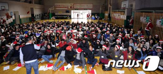 [사진]체육관에 모인 예비산타들