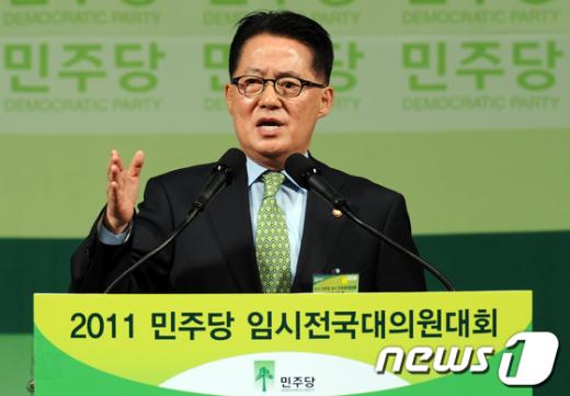 [사진]반대토론하는 박지원 전 원내대표