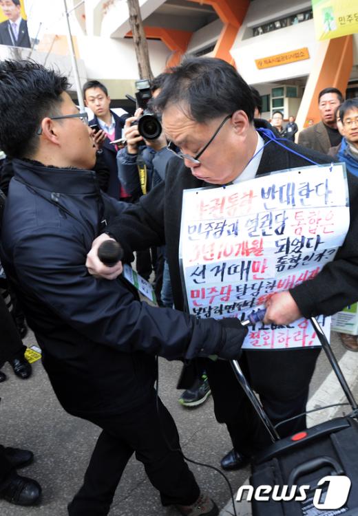 [사진]'혼란의 전당대회장'