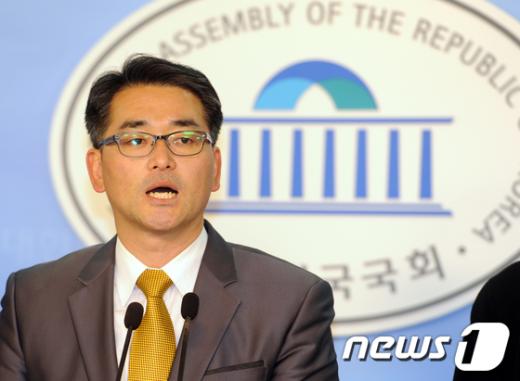 [사진]박용진 전 진보신당 부대표 '민주통합당 대표 경선 출마'