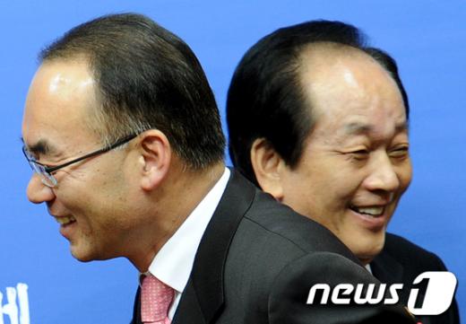 [사진]박재완-서규용, '뿔난 농심(農心) 달랠까?'